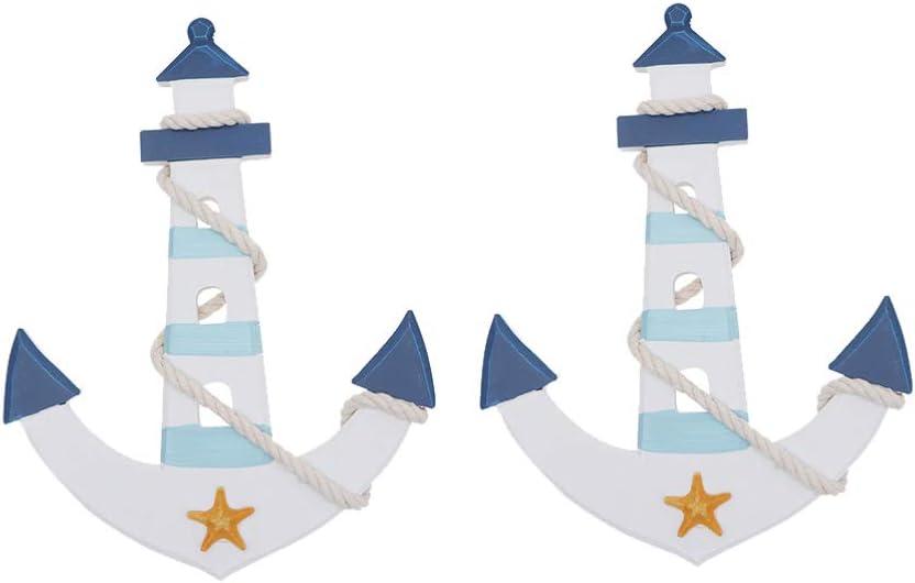 LIOOBO 2 Pcs Denver Mall Nautical Ranking TOP14 Beach Wall Anchor Hangi Mediterranean Boat