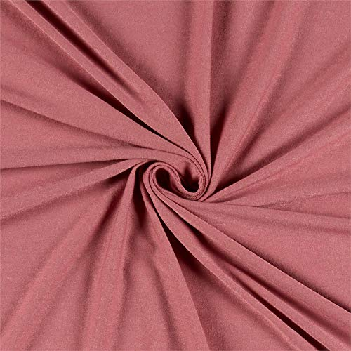 Lavitex Rayon Spandex Jersey Knit Fabric, Dusty Rose, Fabric By The Yard