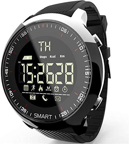 AMBM Reloj inteligente resistente al agua y luminoso con mensaje de teléfono al aire libre para hombres (color negro), blanco