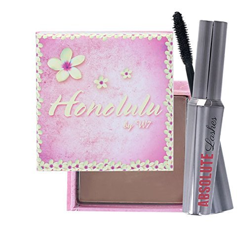 W7 Absolute Lashes Mascara & Honolulu Bronzing Powder Set by W7