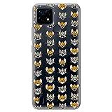 Movilshop Funda para [ Realme C21 ] Tom y Jerry Oficial [Expresiones] Warner Bros de Silicona Flexible Transparente Carcasa Case Cover Gel para Smartphone.