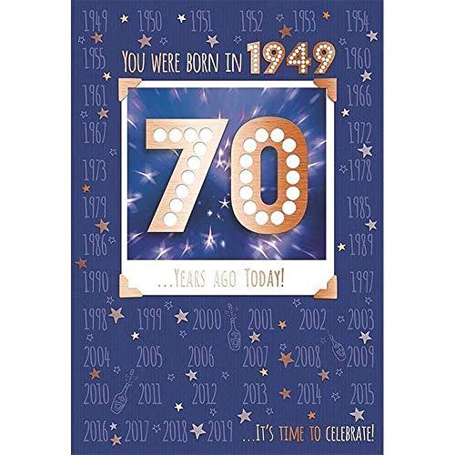 70e 70 Verjaardagskaart 1949 Jaar Je bent geboren Mannelijk Jaar Verschillende Feiten Binnen