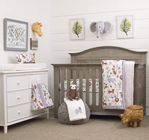 NoJo 8 Piece Crib Bedding Set with Comforter, Growing Wild...