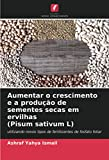 Aumentar o crescimento e a produção de sementes secas em ervilhas (Pisum sativum L): utilizando novos tipos de fertilizantes de fosfato foliar