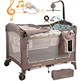 Baby Travel Cot, Folding Child Baby Crib Bed Playpen for Children Bassinet Bed