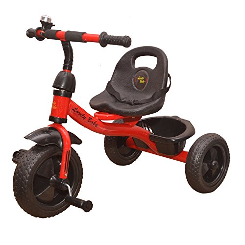 KAYOKSH Baby Tricycle Recommended for Kids with Basket Red Colour for Baby Girl or Baby Boy or Toddler 1, 2, 3, 4, 5 Year Children
