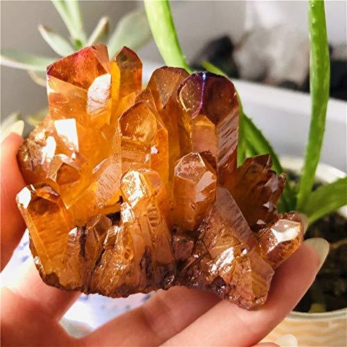 ZZLLFF Cristal Natural de Naranja de Cristal de Cuarzo de Titanio silicio...