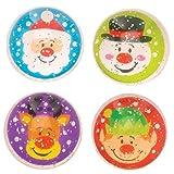 Baker Ross Pelotas de goma con purpurina Raquetas Amigos (paquete de 8) - Artes y manualidades navideñas