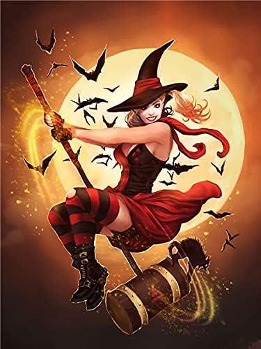 Sales 5D DIY Diamond Deluxe Painting Kits Halloween Pumpkin Girl Art
