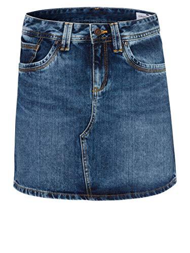 Cross Jeans Damen Mariella Rock, Blau (Mid Blue 054), 40 (Herstellergröße: 32)