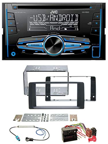 caraudio24 JVC KW-R520 MP3 USB CD 2DIN AUX Autoradio für Man TGX (ab 2007)