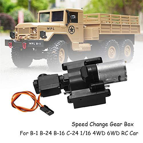 XuBa Geschwindigkeitswechsel-Getriebe für Wpl B1 B24 B16 B36 C24 1/16 4Wd 6Wd RC Auto Geburtstag Geschenk für Kinder