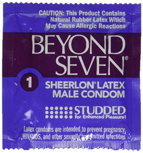 Okamoto Beyond Seven STUDDED Condoms - 25 condoms