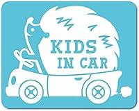 imoninn KIDS in car ステッカー 【マグネットタイプ】 No.37 ハリネズミさん (水色)