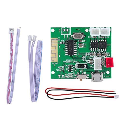 HaiQianXin versterkerplaat AUX 2 x 5 W audio-ingang. versterkerplaat met 5.0 Bluetooth 3,7 V-5 V.