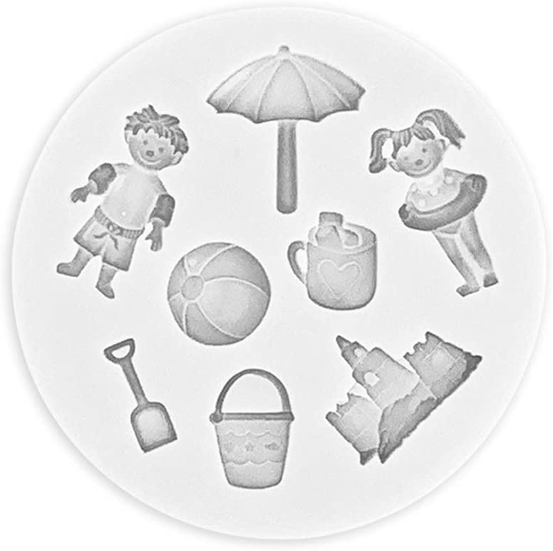 HUGUWEDING Manufacturer direct delivery San Francisco Mall Umbrella Ball Shovel Silicone Mold Baki Cake Bakeware