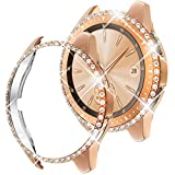 Goton Compatible for Samsung Galaxy Watch 42mm Case Bling 2018 Release , Women Crystal Diamond Watch Face Cover Shiny PC Case Protector for Galaxy Watch 42mm Bumper (Rosegold, 42mm)