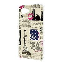 FFANY AQUOS Xx2 mini (503SH) 用 スマホケース ハードケース 自由の女神・ニューヨーク 新聞デザイン 包装紙 ラッピング風 SHARP シャープ アクオス ダブルエックスツー ミニ softbank スマホカバー 携帯ケース 携帯カバー newspaper_aam_h210133