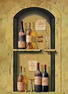 Ideal Decore Wine Bottle Niche Wall Mural