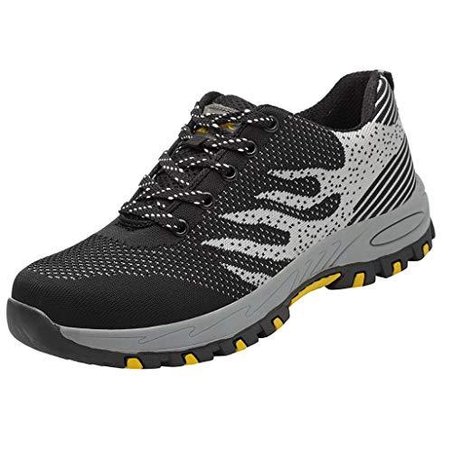 Kinlene Chaussures de Travail de Sécurité pour Hommes,Chaussures de Protection Respirantes pour Hommes.Chaussures de Antidérapantes de Sécurité Anti-perforantes