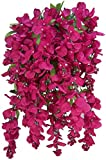 Admired by Nature GPB392-BEAUTY Artificial Wisteria Hanging Flowers Bush, Beauty, 15 Stem, B.Beauty-392