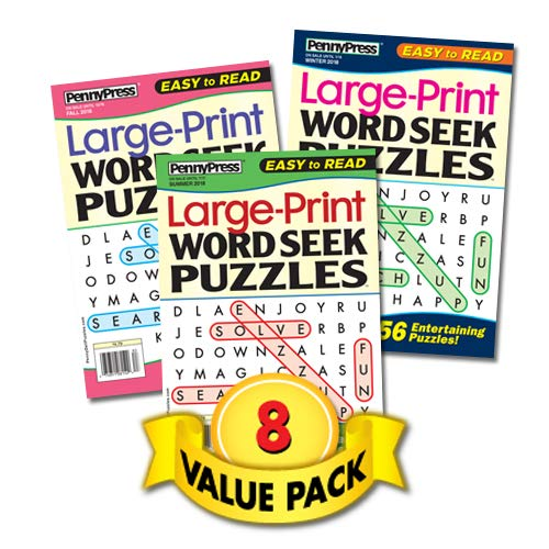 Large Print Word Seek Puzzles-8 Pack – Full Size Books