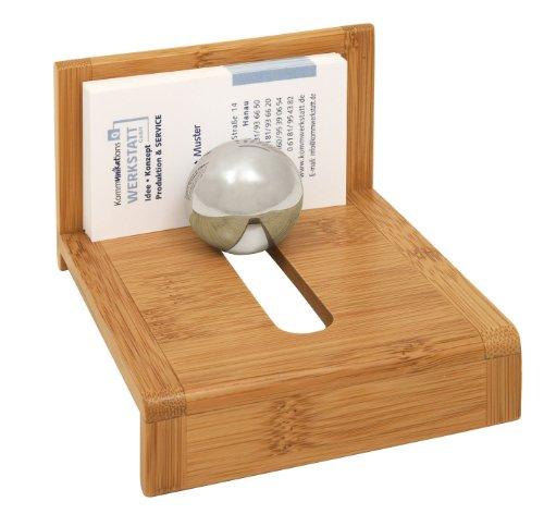 Wedo - Tarjetero (madera de bambú, tarjetas sujetas con bola de acero)