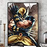 qianyuhe Retro Xmen Wolverine Comic Posters and Prints