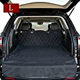 HCMAX Luxury Dog Vehicle Cargo Liner Cover Pet Seat Cover Bed Floor Mat Nonslip Waterproof Universal for Car SUV Truck Jeeps Vans Black - Large