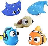 Anzmtos Jouets pour Le Bain pour Enfants Heureux Histoire sous-Marine Bain au Jet d'eau pour bébé Jouets Aquatiques (4PCS)