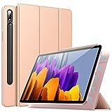TiMOVO Custodia Compatibile con all-New Samsung Galaxy Tab S7 11 inch Tablet 2020 (SM-T870/T875), Smart Cover Leggera con Assorbitore Magnetico Compatibile con Galaxy Tab S7 Tablet, Oro Rosa