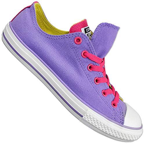 Converse All Estrella Chuck Taylor Doble Tongue Ox Zapatos Rosa Púrpura Chucks Sneakers - Lila, Morado, 37