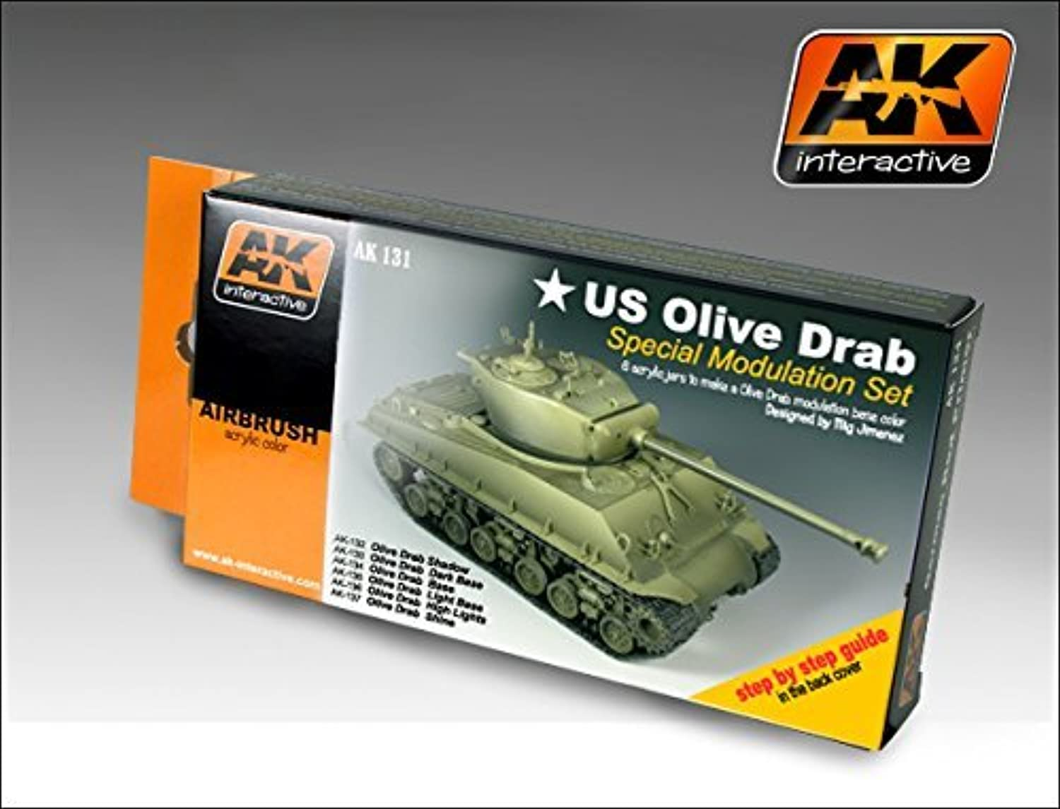 AK Interactive OLIVE DRAB color Set 131 by AK Interactive