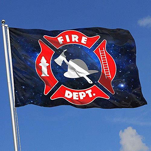 qinzuisp Fahne Feuerwehr Polyester Yard Flag Breeze Flag Bunte Outdoor Yard Banner Urlaub Im Freien 150X90Cm