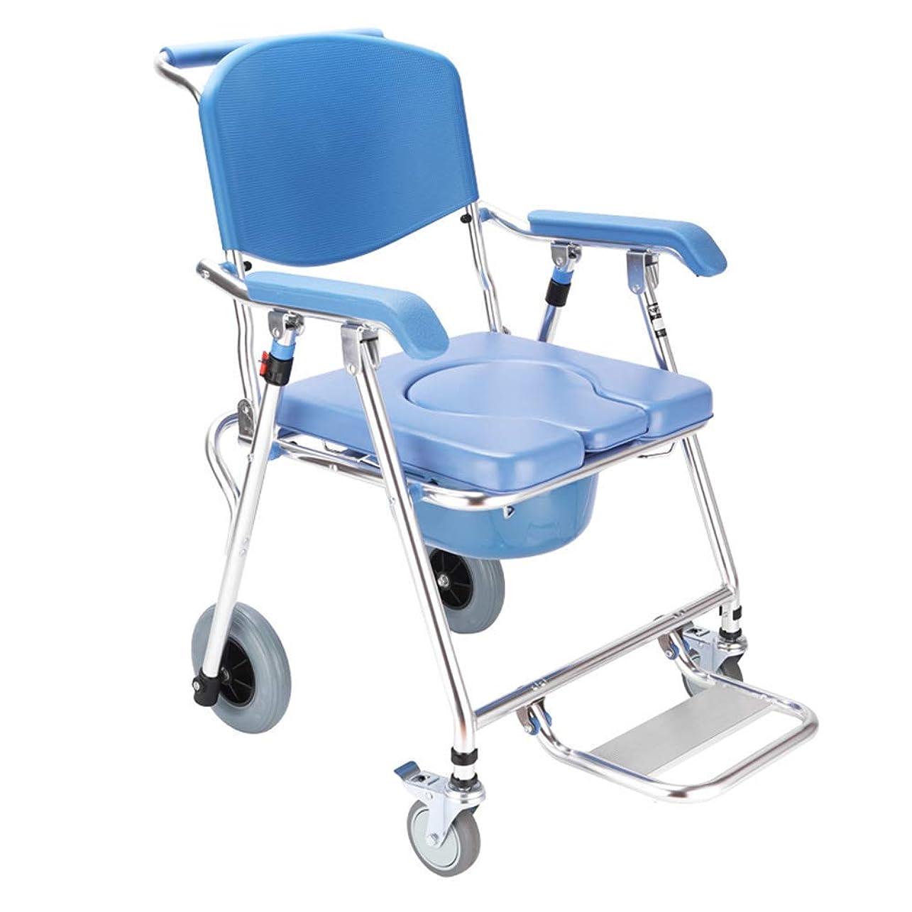 悪名高い代わりにを立てるあるトイレ付き軽量輸送車椅子、8インチホイール付きの大人用折りたたみ輸送椅子(アルミニウム合金)