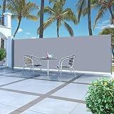 Festnight Auvent Latéral Rétractable Paravent Extérieur pour Jardin, Terrasse, Balcon, etc Résistant aux UV et à l'eau