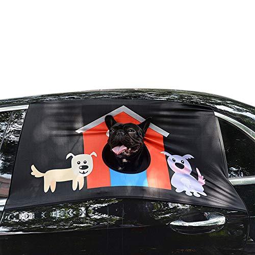 Auto Raam Zonnescherm Huisdier Hond Veiligheid Auto Gedrukt Raam Hek Gordijn Visor Raam Schaduw Cover Huis