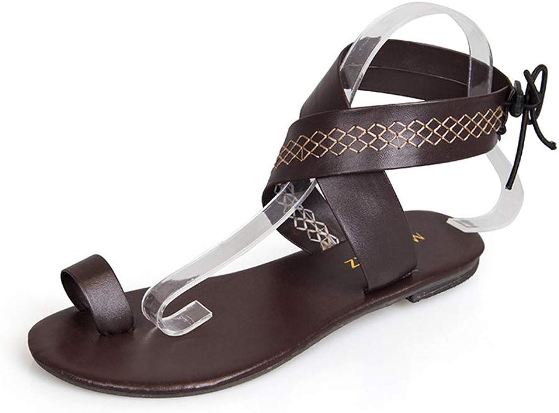 HEDDK Women Flat Sandals Simple White Credver Fashion Flip-Flops Sandals Beach shoes Ladies Sandals Plus Size 35-42