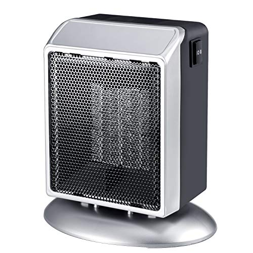 Portable Space Heater, 400W/900W Ceramic Space Heater with Overheat and Tip-Over Protection, Premium Quiet Electric Heater for Office Home Bedroom Heater Portable Space