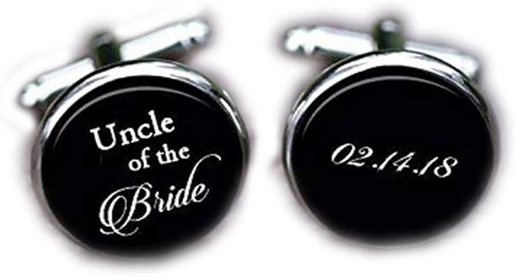 Bloody devil Wedding Cufflinks,Cuff Links, Uncle of The Bride Cufflinks, Wedding Custom Uncle Cuff Links & tie Clip, Custom Date Initial Gifts,Gift of Love