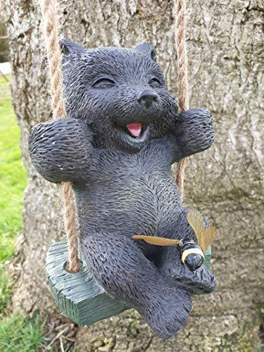 Oakthrift Accents Limited Little Bear Garden Swinging Animal Sculpture Ornament