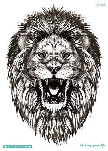 Leone Tattoo Arm Tattoo Festival Tattoo Party Tattoo Animale Tattoo Fake Tattoo LC638