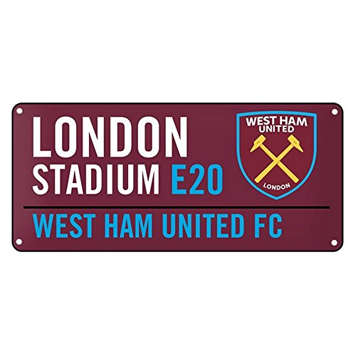 West Ham United FC Official - Placa de calle de metal