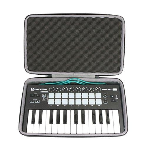 Hart Reise Schutz Hülle Etui Tasche für Novation Launchkey Mini MK3 / MK2 25-Tasten-USB-Keyboard-Controller von co2CREA