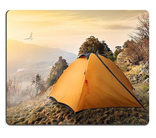 Luxlady ratón para Gaming imagen ID: 34533148tienda de campaña en la parte superior de las montañas en otoño