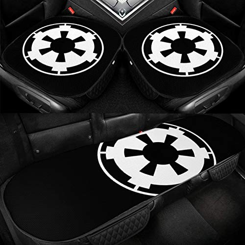 XUKE Pingmu Large Galactic Empire Black Landscape Flag Fashionable Car Ice Seat Cushion 3 Pieces Ice Silk Car Seat Cover Cushion Breathable and Comfortable Non-Slip