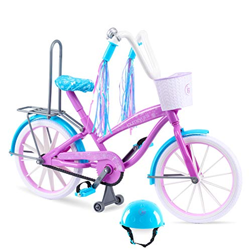 Journey Girls Bike with Helmet, Streamers, Basket, and Wheels that Roll for 18-Inch Journey Girls Doll, by Just Play