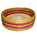 Warming Bread Basket Lotus Warmer Tile Stone Hand Woven For Rolls Appetizers by The Crabby Nook (Made You Blush)