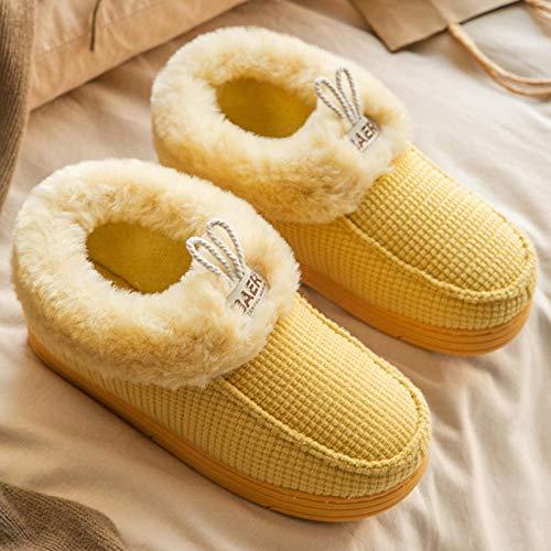 Nwarmsouth Zapatos de Zapatillas de Lujo para Hom,Calzado Interior cálido para la...
