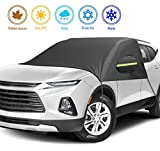 ilauke Windshield Snow Cover for Car - Large Size Windshield Cover for Ice and Snow, Frost Guard Windshield Cover, All-weather Car Waterproof Insulation Windshield Cover, Perfect for Most Cars and SUV